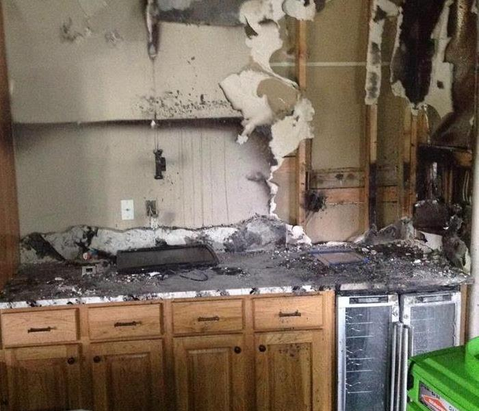 Massive fire damage in Louisville home as the result of an appliance fire