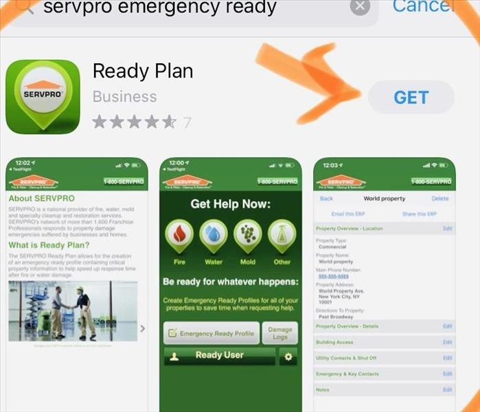 Screenshot of SERVPRO Ready Plan App for folks living in Boulder County